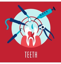 Teeth and dentistry concept vector