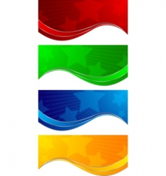 collection colorful banners vector