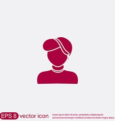 A female avatar avatar of a woman vector