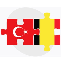 Turkey and belgium flags vector