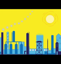 Industrial factory landscape vector
