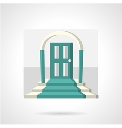 Entrance with arch flat icon vector