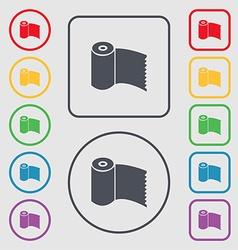 Toilet paper wc roll icon sign symbols on the vector