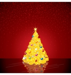 Christmas background with bright tree vector