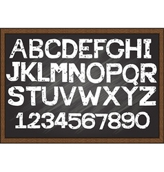 Hand drawn fonts chalkboard vector