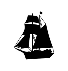 Sailing ship silhouette vector