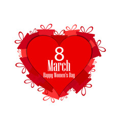 8 march day international womens day hearts vector image vector image