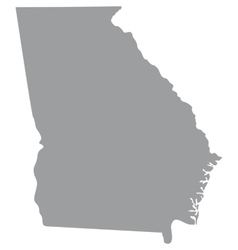 map of the US state of Georgia vector image