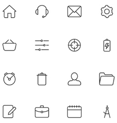 Icons and buttons for web interface or vector