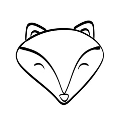 Fox cartoon icon cute animal design vector