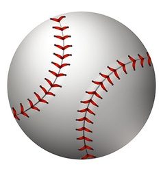 Baseball in simple design vector image vector image