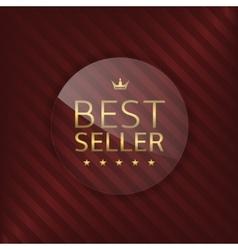 Best seller glass label vector