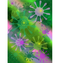 Bright forms on multicolored mesh background vector image vector image