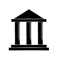building bank invesment money pictogram vector image