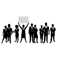 business people group on a world background vector image vector image