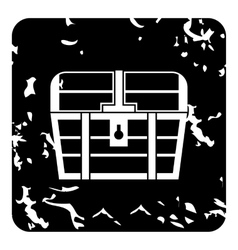 Chest icon grunge style vector