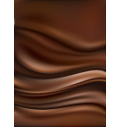 Dark chocolate waves background vector