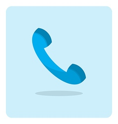 flat icon phone vector image vector image