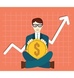 Foreign exchange market appreciation of dollar vector