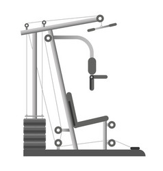 gym or fitness sport club equipment trainer vector image vector image