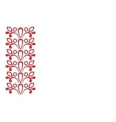 Left Red ornamental frame vector image