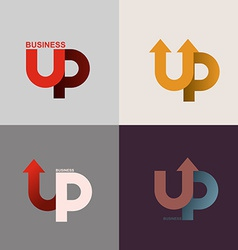 logo of the up arrow Business application icon vector image vector image