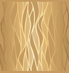 luxury golden wave wallpaper vector image