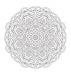 Mandala vintage hand drawn round lace design vector