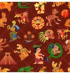Maya seamless pattern vector