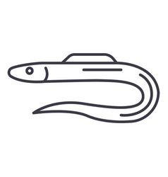 morayeel line icon sign on vector image