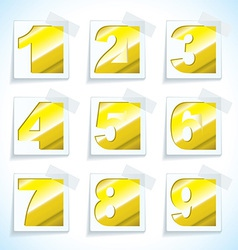 Number pepr gold tags vector image vector image