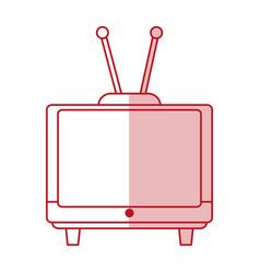 old tv design vector image