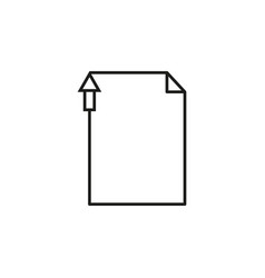 Previous page letter icon vector