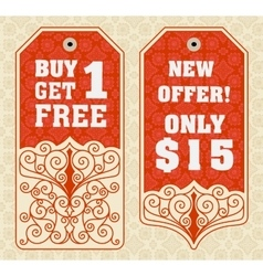 Sale Tags Design vector image vector image
