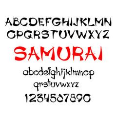 samurai print template vector image vector image