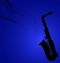 Saxophone with musical symbols vector