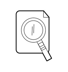 Search magnifying glass with paper vector