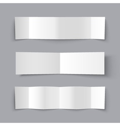 Set of Bended Paper Banners with shadows vector image