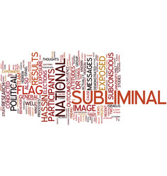 The power of subliminal messages text background vector