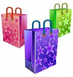 three packages vector image vector image