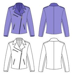 Womans jacket vector