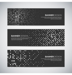Banners with abstract colorful random geometric vector image