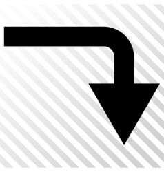 Turn down icon vector