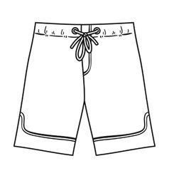 Swimming trunks icon in outline style isolated on vector image