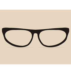 Secretary black flat eye glasses vector