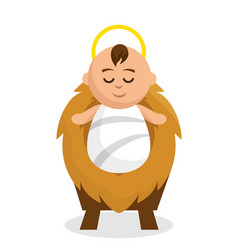 Jesus baby character icon vector