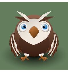 Cute baby owl vector image
