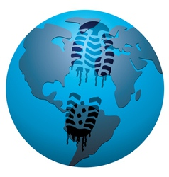 concept of global footprint vector image