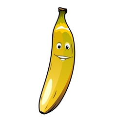 Cute cheeky smiling cartoon banana vector