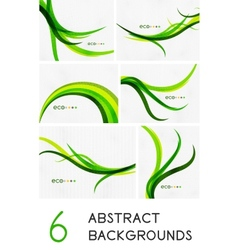 Mega set of spring abstract backgrounds vector image